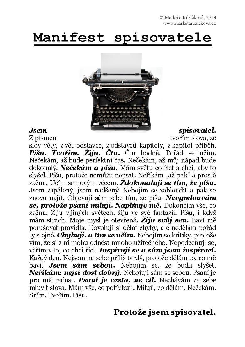 Manifest spisovatele