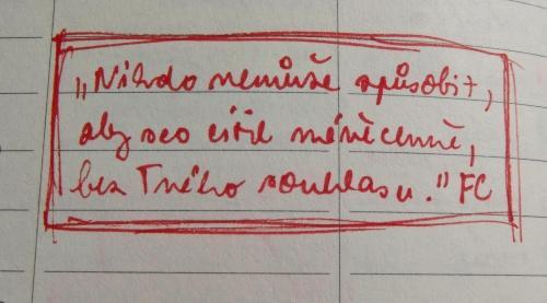 citát ze zápisníku (z časopisu First Class)